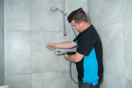 Douchen met een boiler