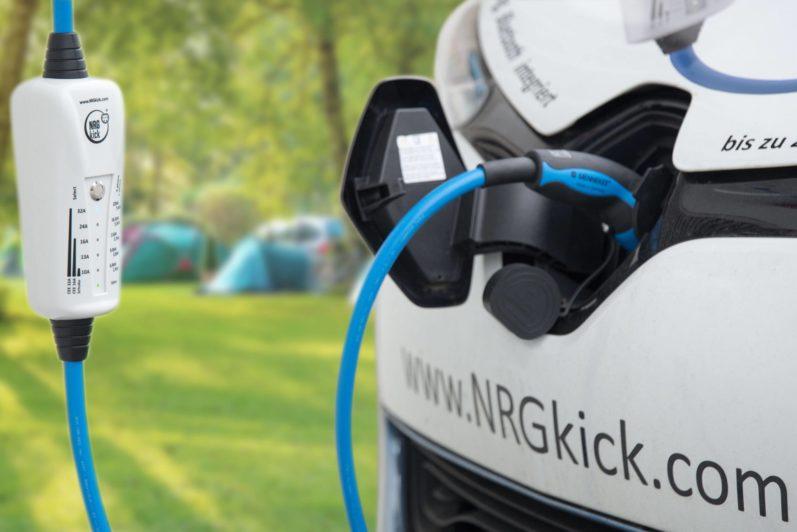 elektrische auto opladen op de camping | NRGkick